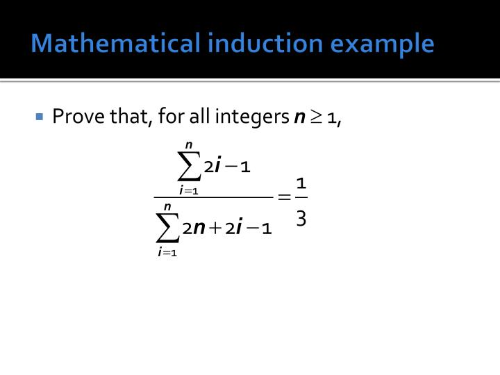 Mathematical induction example