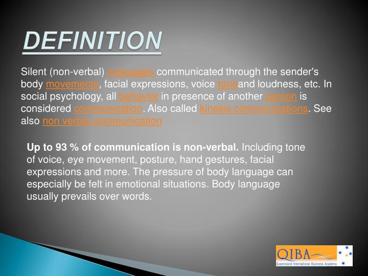 body language definition psychology