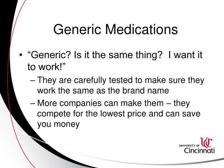 Generic Medications