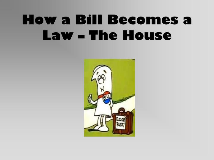 how a bill becomes a law the house n.
