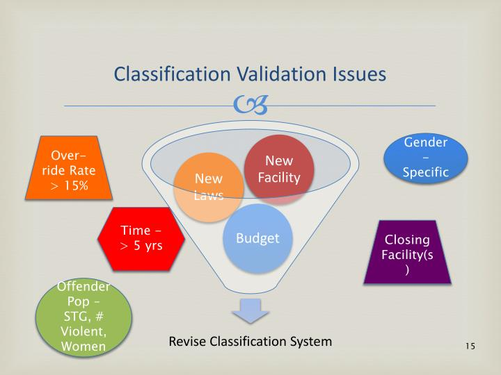 Classification Validation Issues