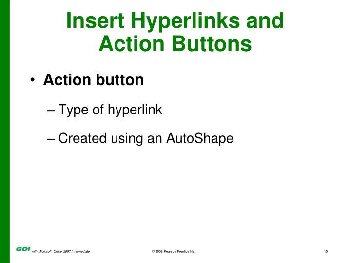 Insert Hyperlinks and