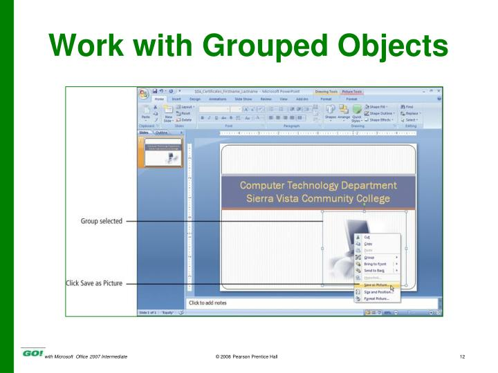 Work with Grouped Objects