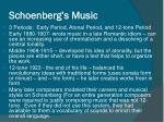 schoenberg s music