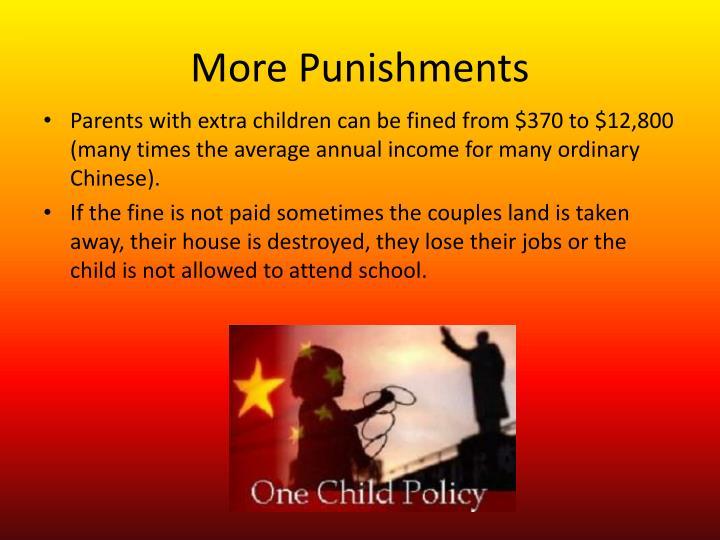 More Punishments