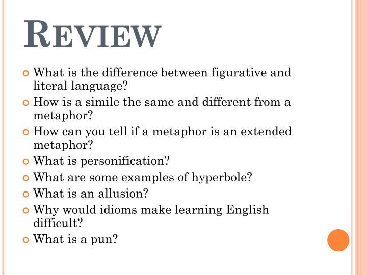 Ppt Figurative Language Powerpoint Presentation Id1928766