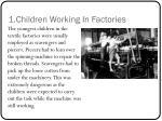 1 children working in factories
