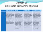 domain 2 classroom environment 20