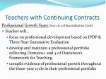 teachers with continuing contracts