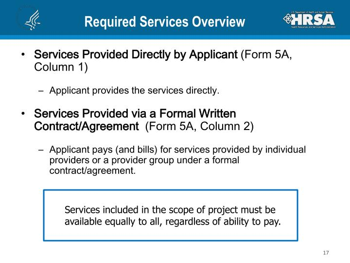 Required Services Overview