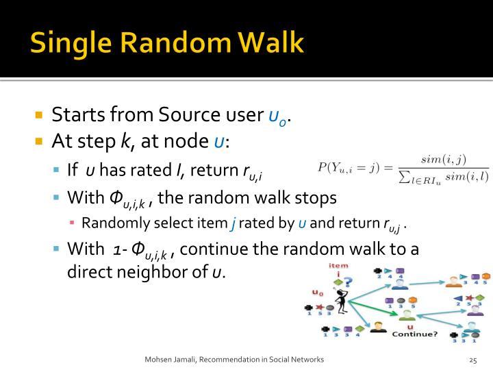 Single Random Walk