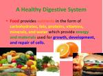 a healthy digestive system