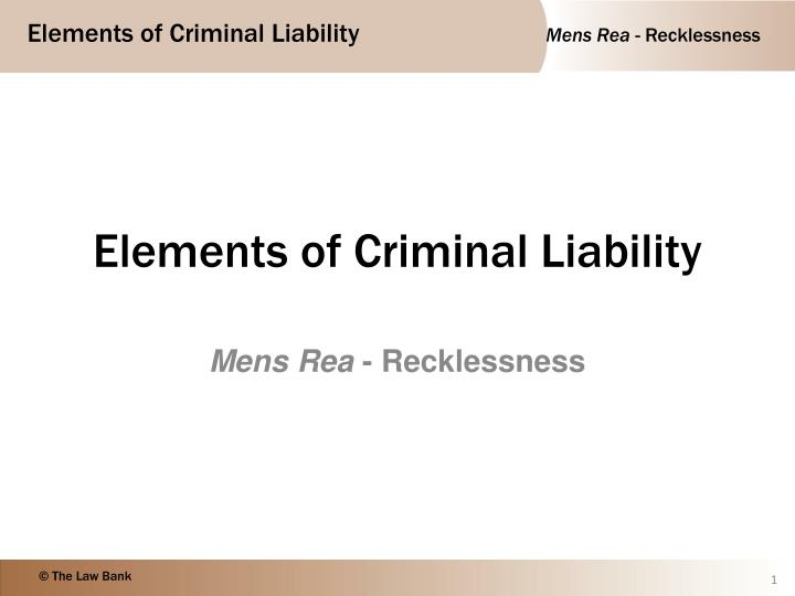 current definition of recklessness within criminal law law essay Definition of recklessness (criminal) in the legal dictionary - by free online english dictionary and encyclopedia meaning of recklessness (criminal) as a legal term what does recklessness (criminal) mean in law + add current page to bookmarks.