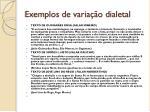 exemplos de varia o dialetal1