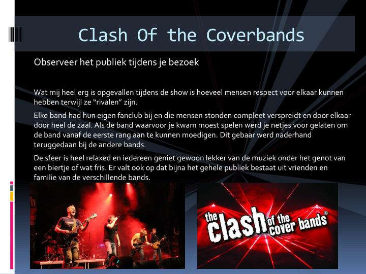 Clash Of the Coverbands