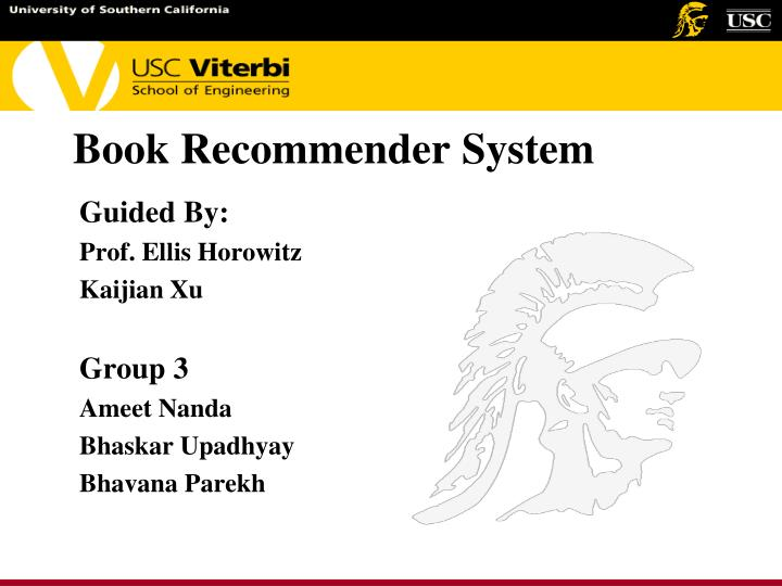 book recommender system n.
