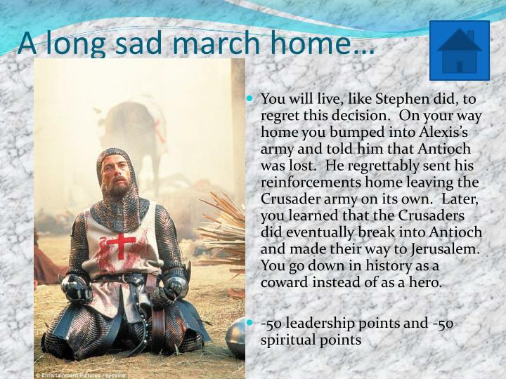 A long sad march home…