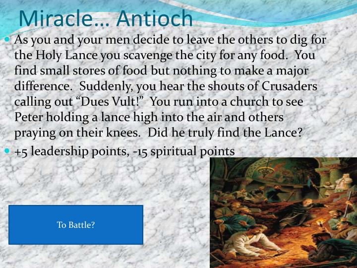 Miracle… Antioch