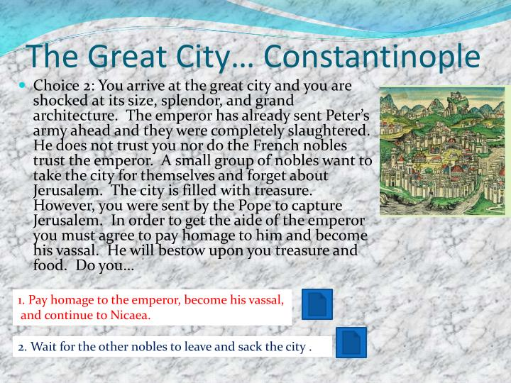 The Great City… Constantinople