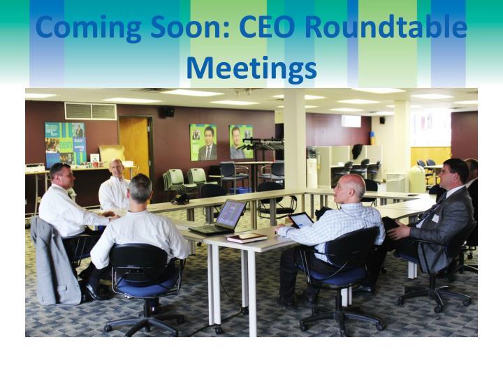 Coming Soon: CEO Roundtable Meetings