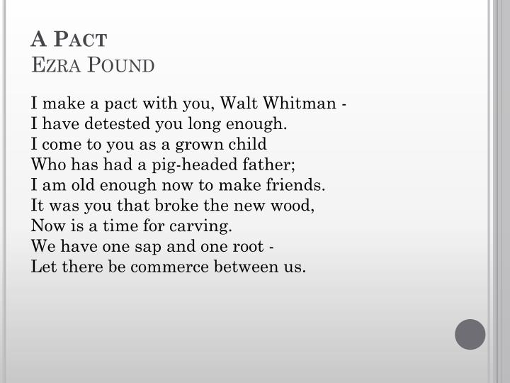 a pact poem