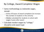 by college award completer wages