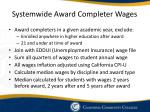 systemwide award completer wages