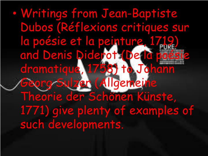 Writings from Jean-