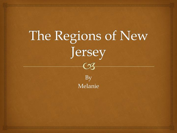 the regions of new jersey n.