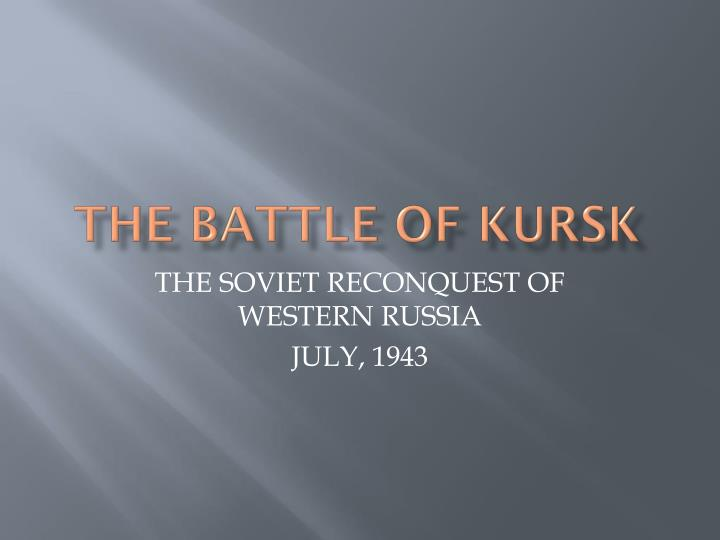 the battle of kursk n.