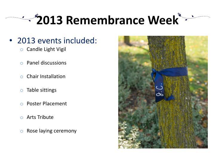 2013 Remembrance Week