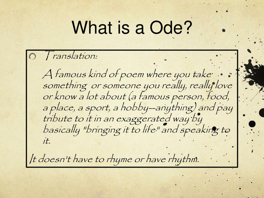 Ppt Odes Or Praise Poems Powerpoint Presentation Free