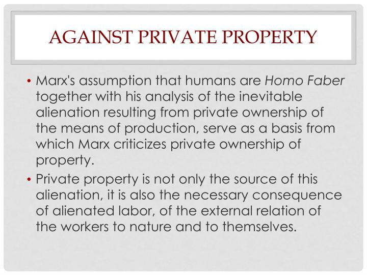 Against Private Property