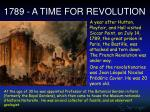 1789 a time for revolution