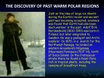 the discovery of past warm polar regions