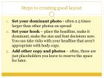 steps to creating good layout