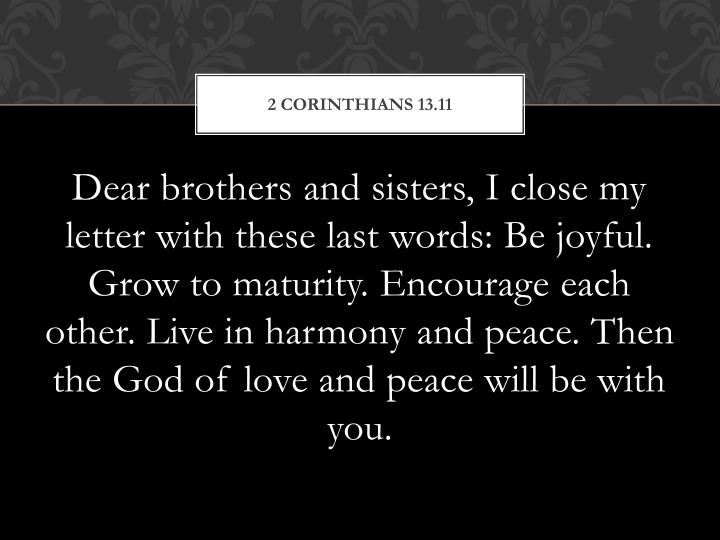 2 Corinthians 13.11
