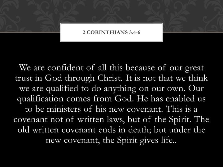 2 Corinthians 3.4-6