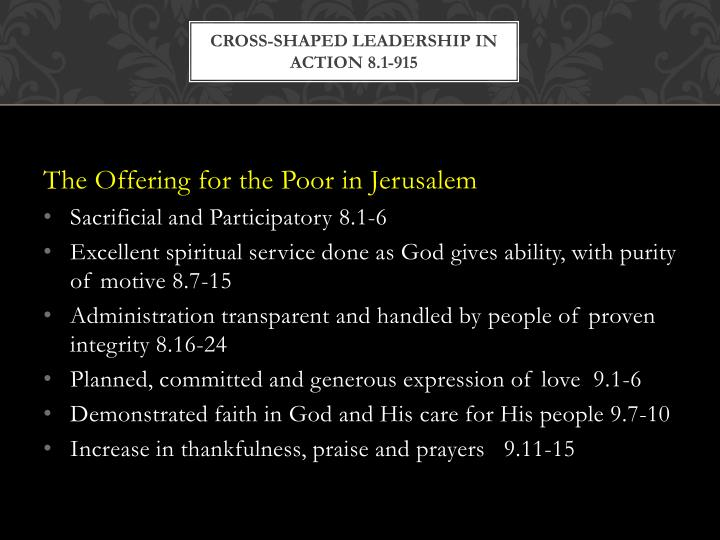 cross-shaped leadership in action 8.1-915