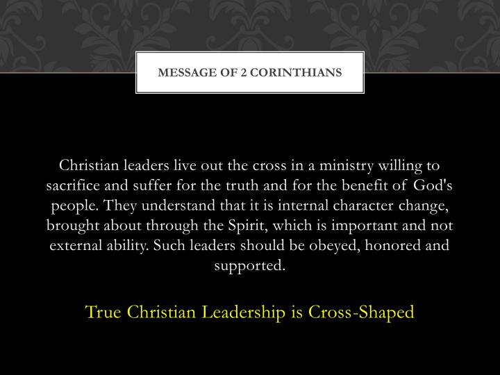 Message of 2 Corinthians