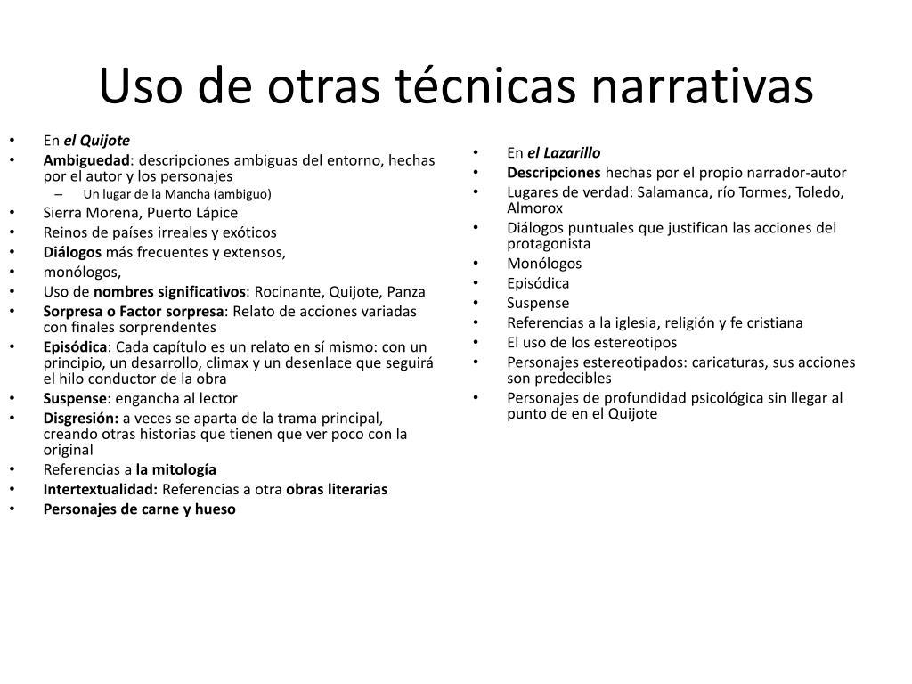 Ppt Don Quijote Y El Lazarillo Comparación Y Contraste