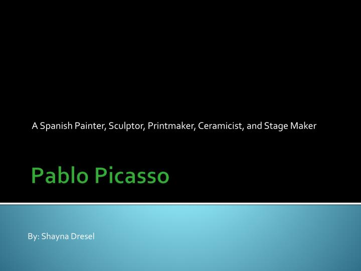 a spanish painter sculptor printmaker ceramicist and stage maker n.