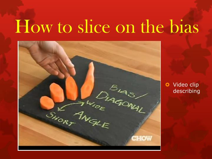 How to slice on the bias