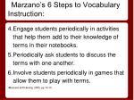 marzano s 6 steps to vocabulary instruction1