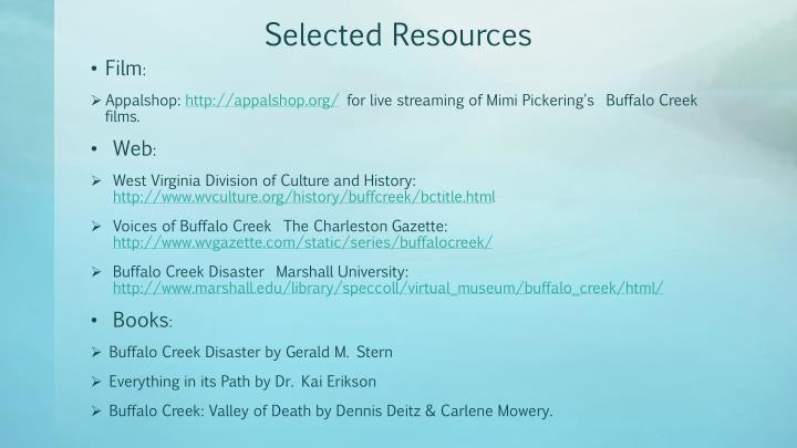 Selected Resources