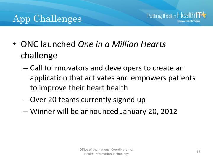 App Challenges