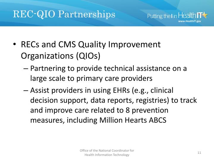 REC-QIO Partnerships