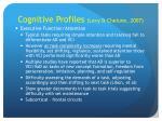 cognitive profiles levy chelune 2007