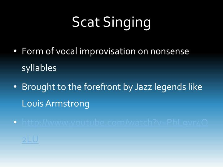 Scat Singing