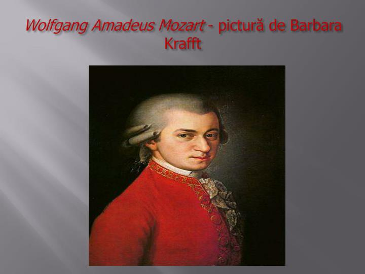 Wolfgang amadeus mozart pictur de barbara krafft